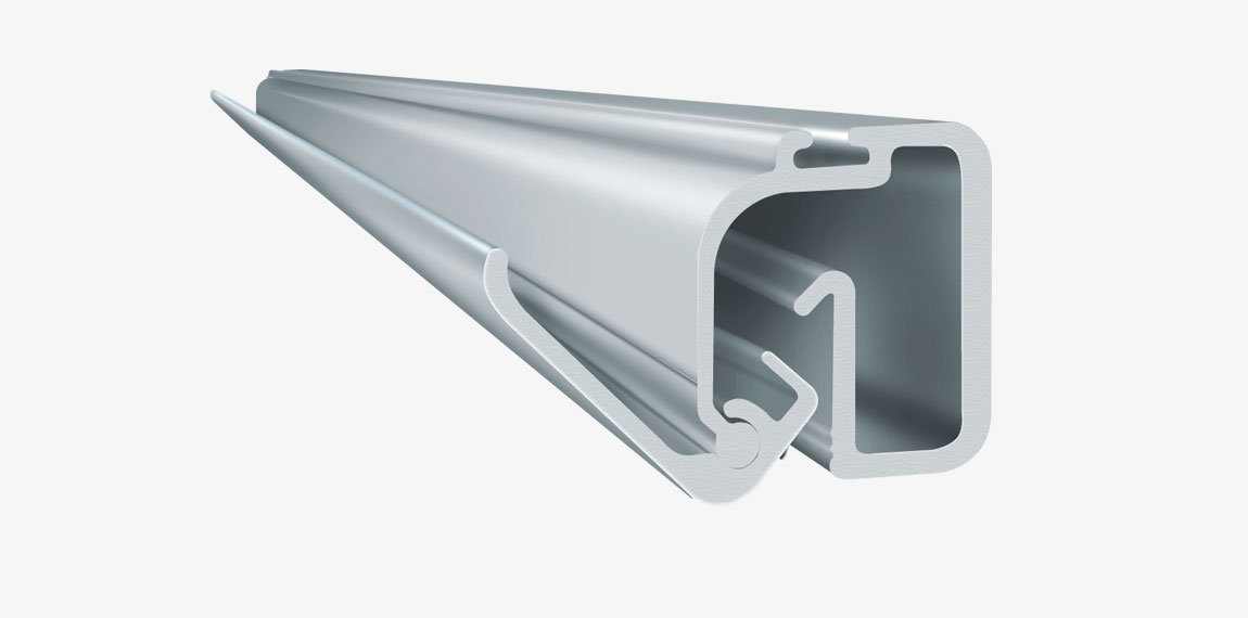 The image on Graphic Profile is attached with a snap, without screws or glue. The profile can be cut to desired length.