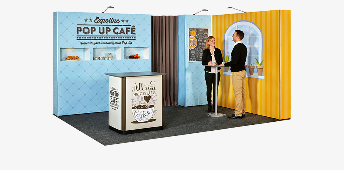 Small Exhibition Stand Mockup : Pop up magnetic expolinc