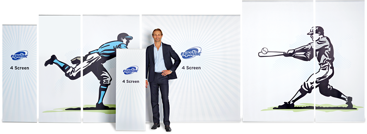 4 Screen is a banner system available in several sizes