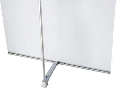 4 Screen is mounted with only four pieces, foot, rod and two profiles.