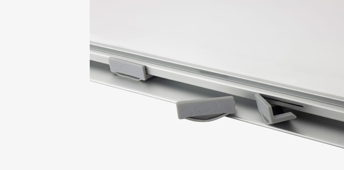 Patented locking clips in the top profile