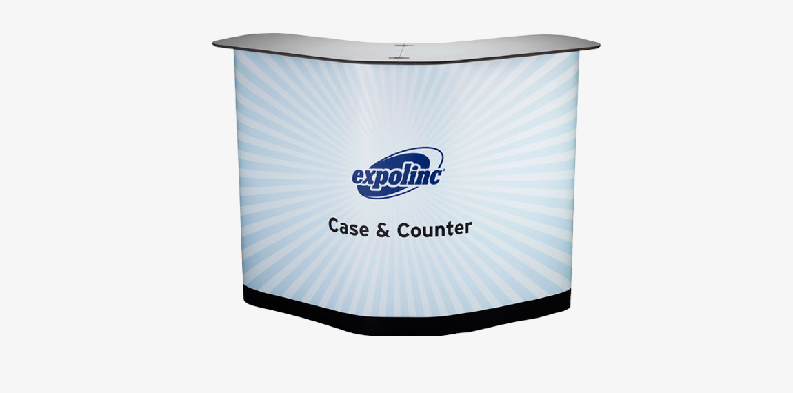 Graphic panel mounted on Case & Counter