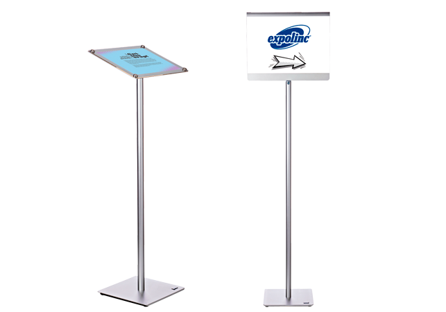 Angled and straight version of Info Stand
