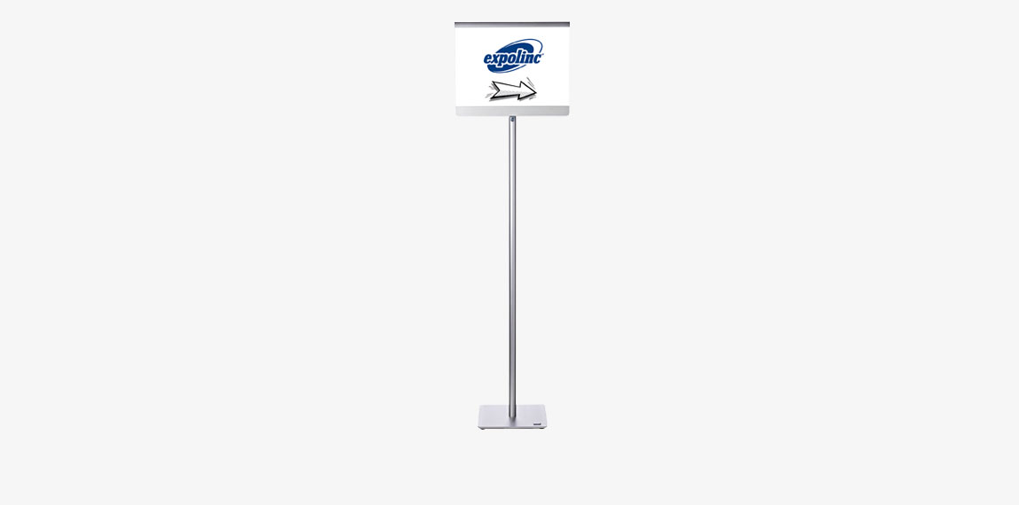 A vertical A3 display perfect for directional signage.