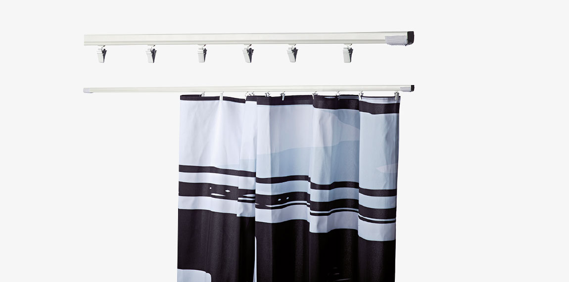 Attach a curtain profile easily with velcro to create a separate storage room.