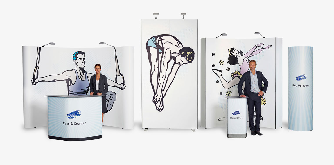 With Pop Up Magnetic you may create your own customized back wall or choose any of our ready made packages.