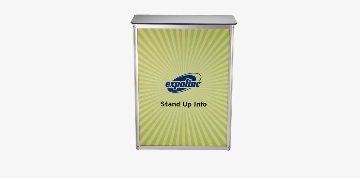 Stand Up info counter for meetings large and small