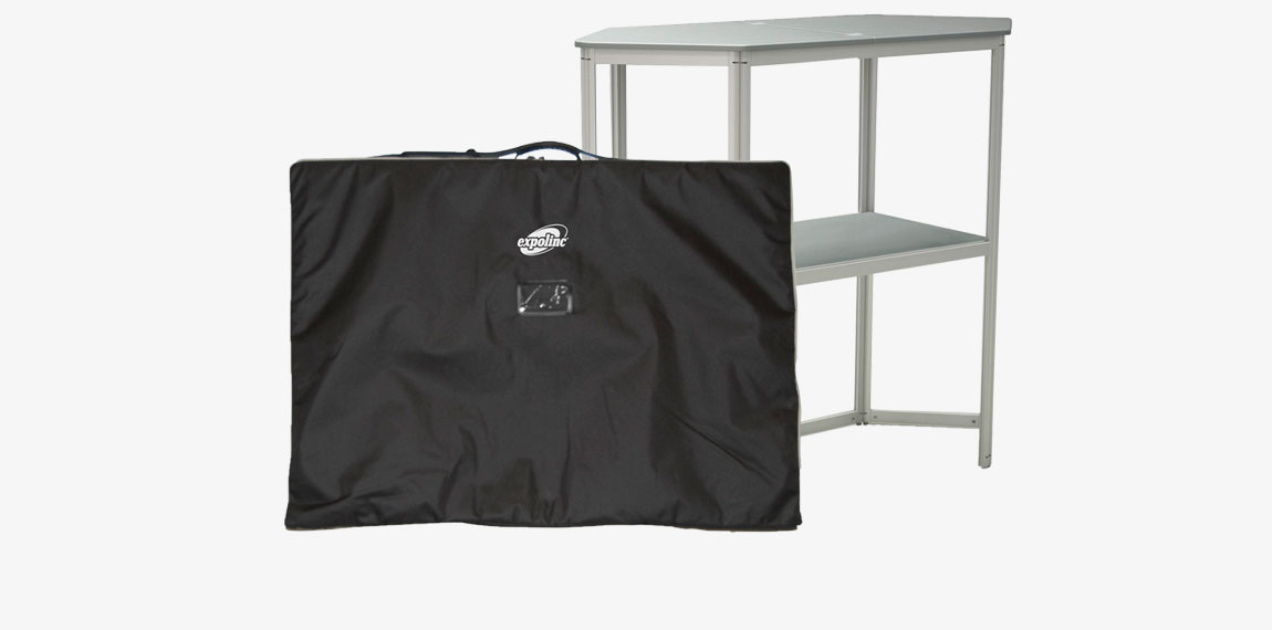 The Stand Up package with frame, top shelf, internal shelf and padded nylon carrying bag.