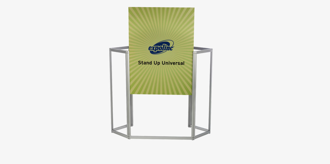 The panels are mounted in Stand Up universal counter and kept in the frame during transport.