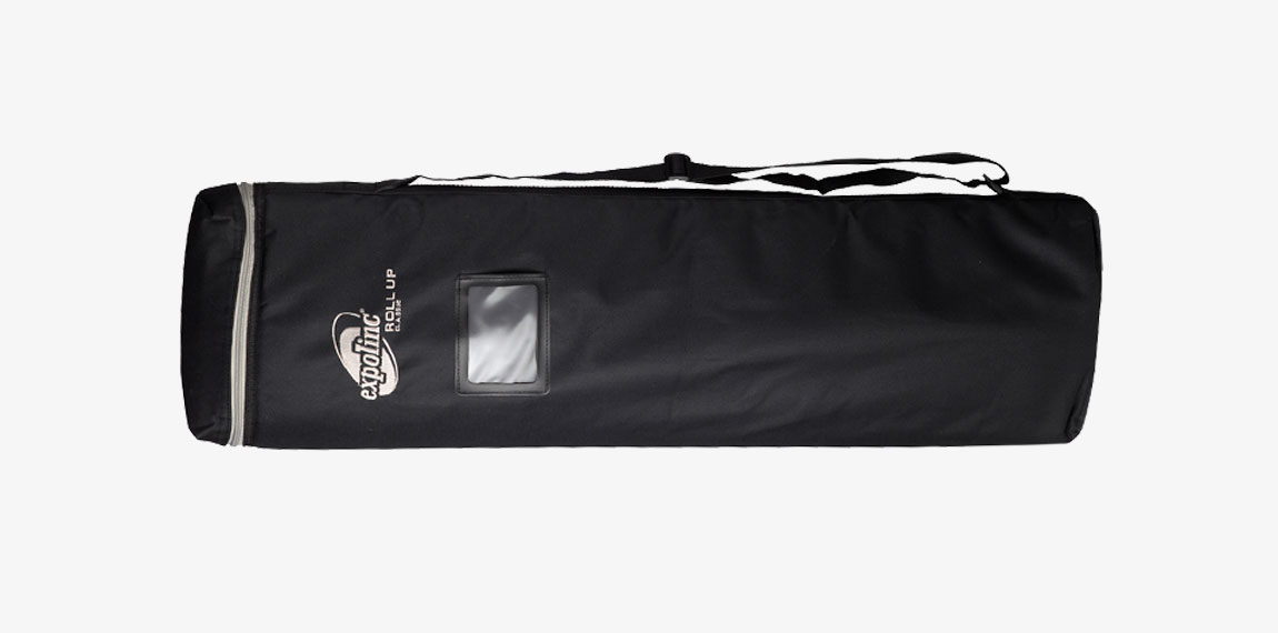 Roll Up Classic is transported in a nylon bag with shoulder strap.