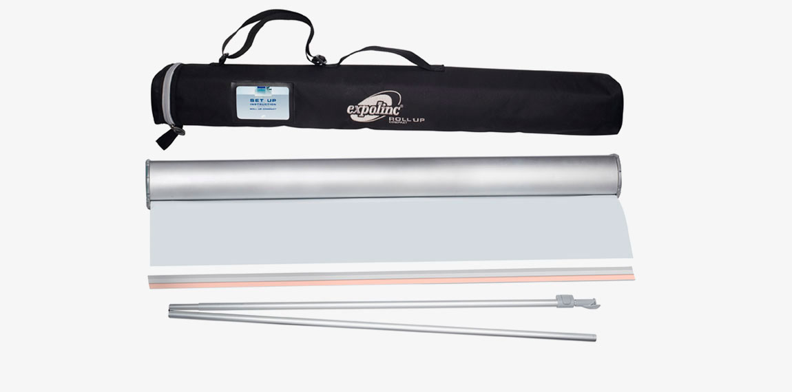 The package includes cassette, telescopic supporting rod, panel profile, internal roller including plastic strip and bag.