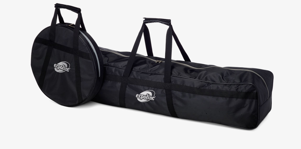 Soft bag with 2 poles