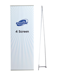 4 Screen is a bannerstand with almost invisible profiles and available in several widths.