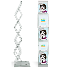 Brochure Stand Double is an attractive brochure stand with double-sided exposure of brochures.