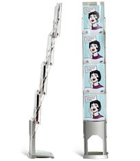 A brochure stand with a professional and attractive exposure of brochures.