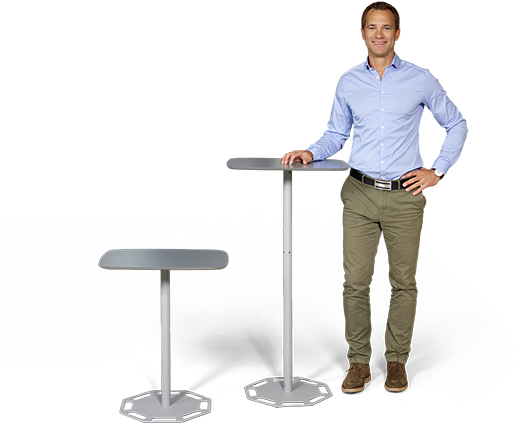 With Portable Table you will get two tables in one.
