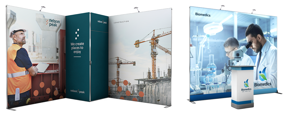 Expolinc Frame is a toolless and portable exhibition system.